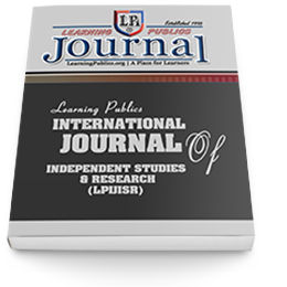 Learning Publics International Journal of Independent Studies and Research